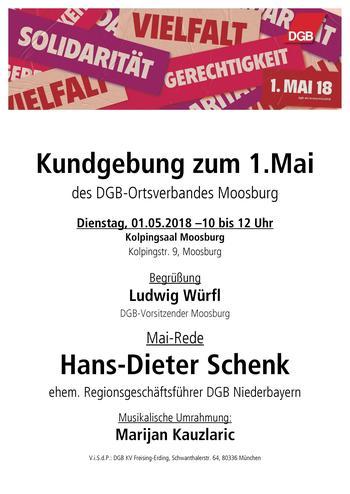 Das Plakat zum 1. Mai