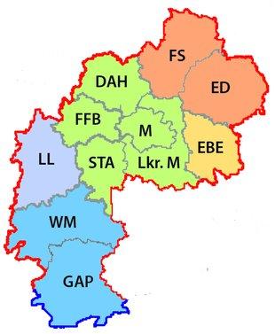 DGB Region München - Kreisverbände