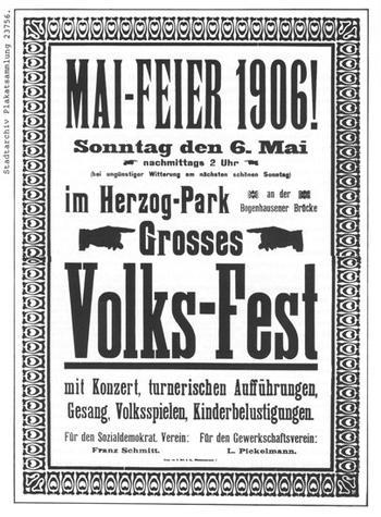 Plakat zur Mai-Feier 1906