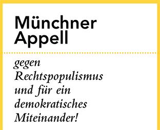 Logo zu Münchner Appell gegen Rechtspopulismus und für ein demokratisches Miteinander