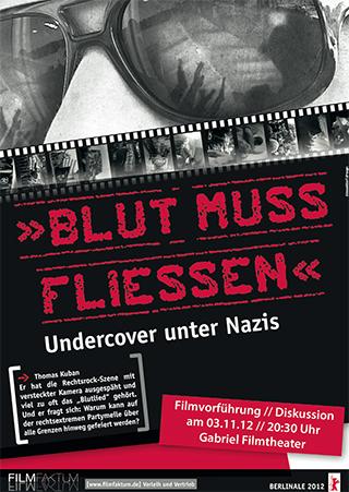 """Einladungskarte zum Film """"Blut muss fliessen"""" in München"""