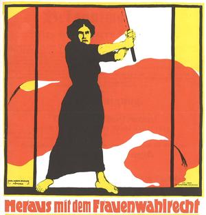 Historisches Plakat zum Frauenwahlrecht
