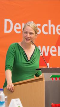 Foto der DGB-Kreisvorsitzenden Simone Burger