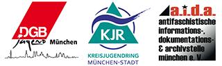 Logoleiste DGB Jugend München, Kreisjugendring München-Stadt und a.i.d.a.
