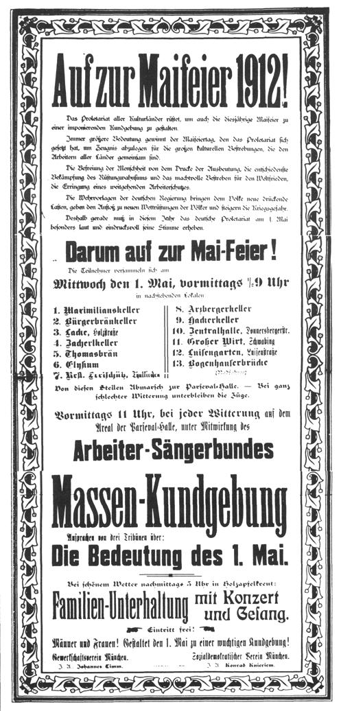 Maifeierplakat von 1912