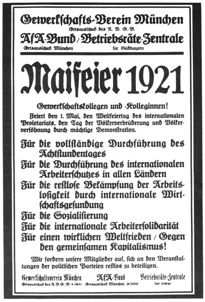 Maifeier-Plakat 1921