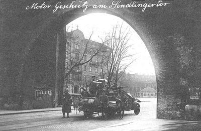 Geschütz vor dem Sendlinger Tor, 1.Mai 1919, Postkarte